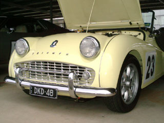 tr3 yellow front